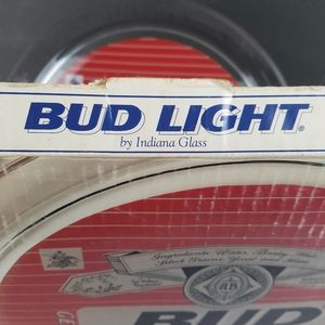 "Budweiser Dining - Vintage Bud Light Beer 13"" Glass Serving Tray"